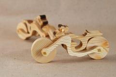 Деревянный мотоцикл игрушки Стоковые Изображения RF