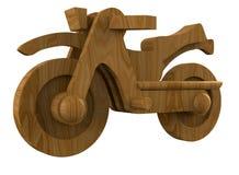 Деревянный мотоцикл Стоковые Фотографии RF