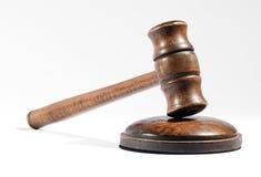 Деревянный молоток как использовано судьей или аукционистом Стоковая Фотография