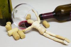 Деревянный наркоман куклы стоковое фото