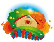 Деревянный небольшой дом Стоковые Фото