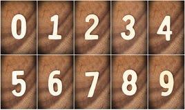 Деревянный номер Стоковая Фотография RF