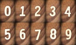 Деревянный номер Стоковые Фотографии RF