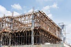 деревянный обрамлять здания конструкции стоковые изображения rf