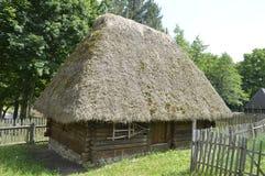 Деревянный дом в музее Стоковое Изображение