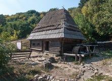 Деревянный дом в под открытым небом музее Pirogovo Стоковые Изображения RF