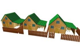 Деревянный дом, иллюстрация Стоковые Изображения RF