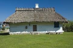 Деревянный дом коттеджа Стоковое Изображение