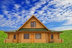 Деревянный дом, мечт дом Стоковое Изображение