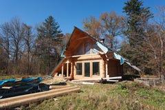 Деревянный дом для сельского убежища Стоковые Изображения RF