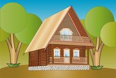 Деревянный дом Стоковые Фото