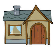 Деревянный дом иллюстрация штока