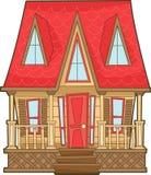 Деревянный дом Бесплатная Иллюстрация