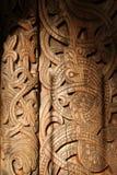 Деревянный орнамент двери Стоковые Изображения RF