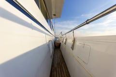 Деревянный остров корабля яхты Стоковое Изображение