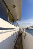 Деревянный остров корабля яхты Стоковые Фото