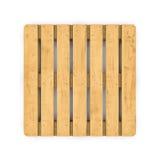 Деревянный паллет изолированный на белой предпосылке Стоковое Фото