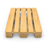 Деревянный паллет изолированный на белой предпосылке Стоковая Фотография