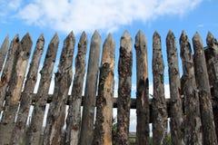 Деревянный палисад Стоковые Изображения