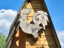 Деревянный петушок стоковое фото