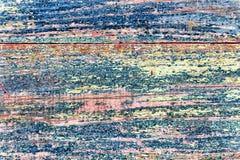 Деревянный пинк голубого зеленого цвета предпосылки покрасил потрескиванную краску Стоковое Фото