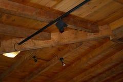 Деревянный потолок Стоковая Фотография