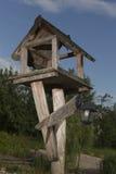 Деревянный подавая поднос Стоковая Фотография