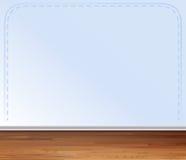Деревянный пол и серая стена бесплатная иллюстрация