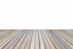 Деревянный пол на белой предпосылке Стоковое Изображение