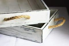 Деревянный поднос Стоковая Фотография RF
