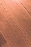 Деревянный пол партера, деревянный макрос настила Стоковая Фотография