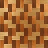 Деревянный прямоугольный партер штабелированный для безшовной предпосылки Стоковое Фото