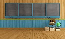 Деревянный пустой класс иллюстрация штока