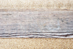 Деревянный путь планки стоковое изображение