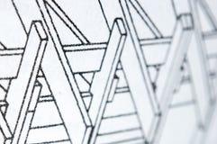 Деревянный план строительства Стоковое Изображение RF
