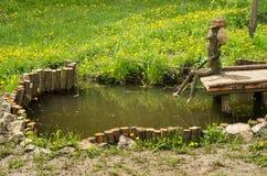 Деревянный рыболов Стоковые Изображения RF