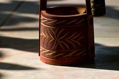 Деревянный сделанный фотоснимок запаса выставочного образца ремесленничеств Стоковая Фотография