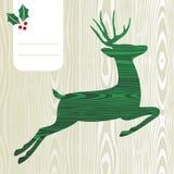 Деревянный силуэт оленей рождества Стоковое фото RF