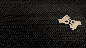 деревянный символ 3d американского языка жестов интерпретируя значок для того чтобы представить бесплатная иллюстрация