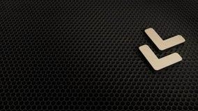деревянный символ 3d двойника угла вниз со значка представить бесплатная иллюстрация