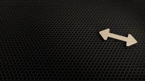 деревянный символ 3d двойного горизонтального значка стрелки представить иллюстрация штока
