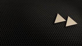 деревянный символ 3d двойного значка клавиш правой стрелки представить иллюстрация вектора