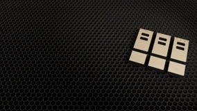 деревянный символ 3d значка архива представить иллюстрация штока