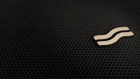 деревянный символ 3d значка бекона представить бесплатная иллюстрация