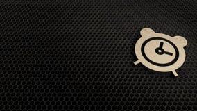 деревянный символ 3d значка будильника представить бесплатная иллюстрация