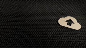 деревянный символ 3d значка загрузки облака представить бесплатная иллюстрация