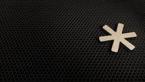 деревянный символ 3d значка звездочки представить бесплатная иллюстрация