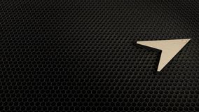 деревянный символ 3d значка иглы компаса представить бесплатная иллюстрация