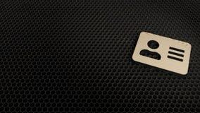 деревянный символ 3d значка карты адреса представить иллюстрация штока