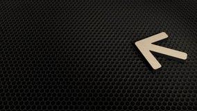 деревянный символ 3d значка стрелки левого представить иллюстрация штока